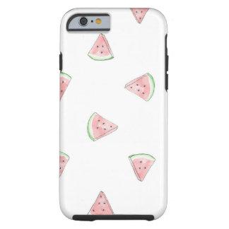 Cute fresh hand painted watermelon pattern print tough iPhone 6 case