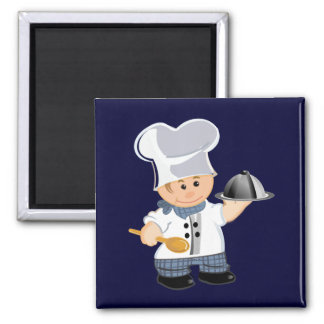 cute fridge magnet with chef