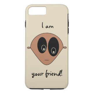 Cute Friendly Alien Face Design iPhone 7 Plus Case