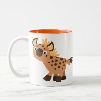 Cute Friendly Cartoon Hyena Two-Tone Coffee Mug