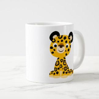 Cute Friendly Cartoon Jaguar Large Coffee Mug