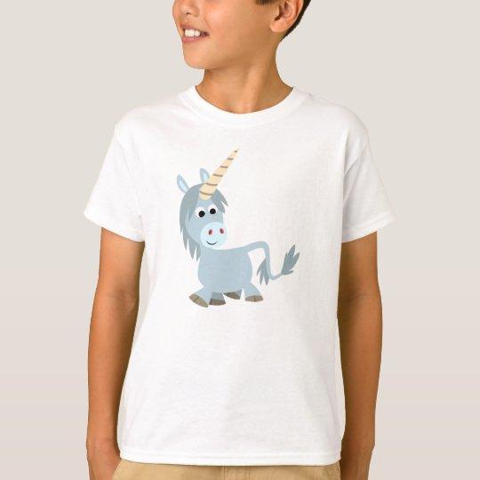 Cute Friendly Cartoon Unicorn Children T-Shirt