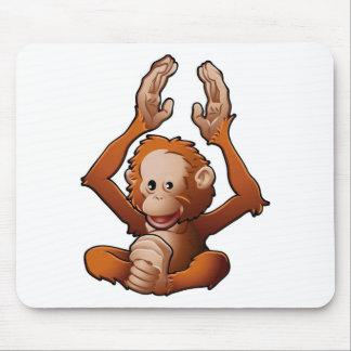 cute friendly Orangutan Mouse Pad