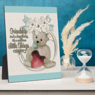 Cute friendship bear plaque