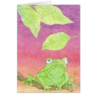 cute frog card