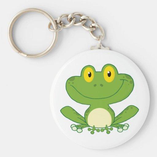 Cute Frog Cartoon Character Key Chains