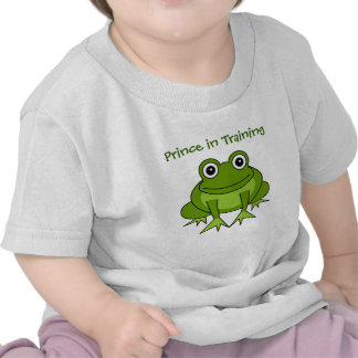 Cute Frog Cartoon - Prince in Training Tshirts