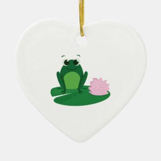 Cute Frog Ceramic Ornament