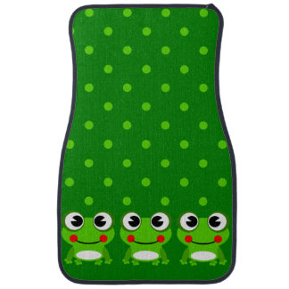 Cute Frog Graphic Floor Mats
