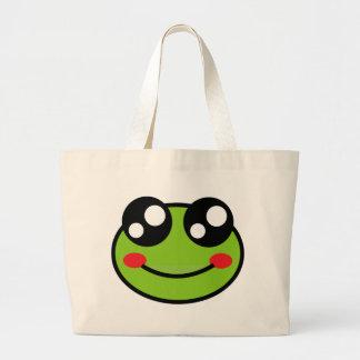 Cute Frog Large Tote Bag