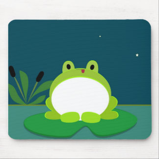 Cute frog mouse pad