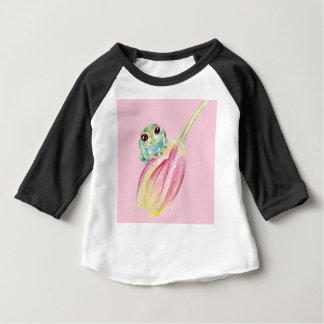 Cute Frog On Pink Baby T-Shirt