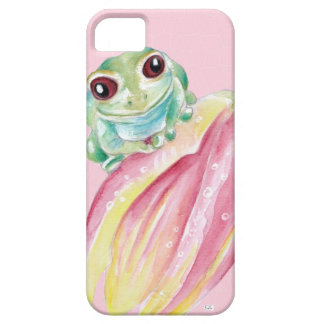 Cute Frog On Pink iPhone 5 Covers