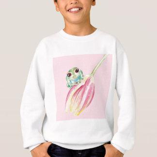 Cute Frog On Pink Sweatshirt