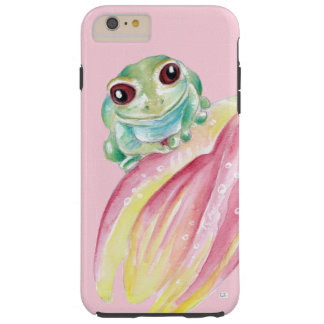 Cute Frog On Pink Tough iPhone 6 Plus Case