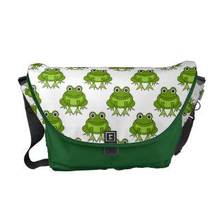 Cute Frog Pattern Commuter Bags