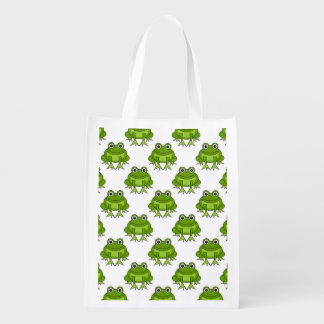 Cute Frog Pattern Reusable Grocery Bag