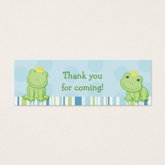 Cute Frog Prince Baby Shower Favour Gift Tags Mini Business Card
