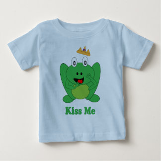 "Cute Frog Says ""Kiss  Me"" Fairytale Tee Shirt"