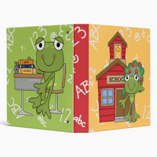 Cute Frog School Notebook 3 Ring Binder