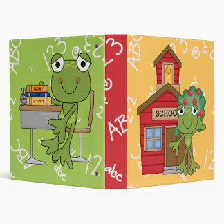 Cute Frog School Notebook Binder
