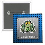 Cute Frog; Silver Pins