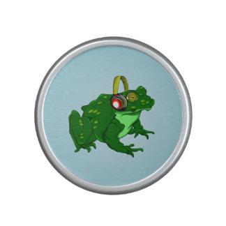 Cute Frog Wearing Headphone Speaker