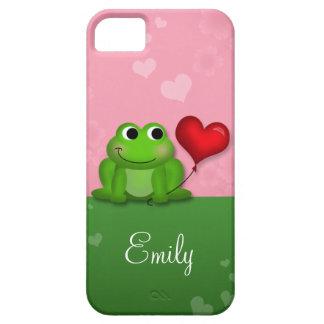 Cute Froggy Heart Balloon iPhone 5 Case