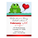 Cute Froggy Heart Valentine's Day Invitations