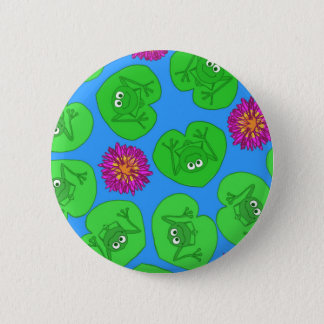 Cute frogs 2 inch round button