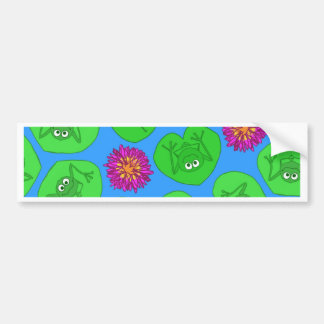 Cute frogs bumper sticker