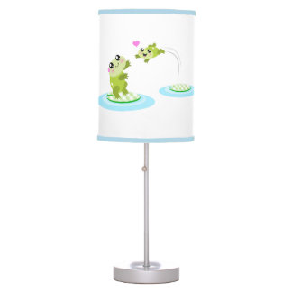 Cute frogs - kawaii mother and baby frog table lamp