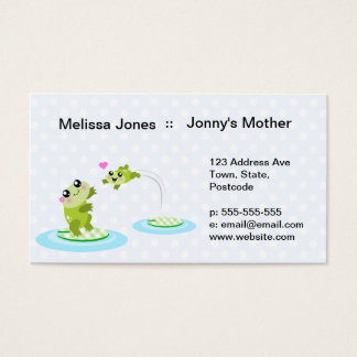 Cute frogs - kawaii mother and child frog business card