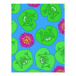 Cute frogs letterhead