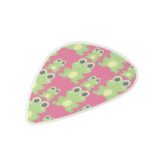 Cute frogs pattern acetal guitar pick