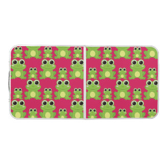 Cute frogs pattern beer pong table