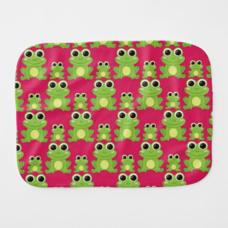 Cute frogs pattern burp cloth