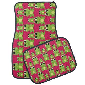 Cute frogs pattern car mat