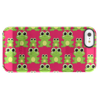 Cute frogs pattern clear iPhone SE/5/5s case