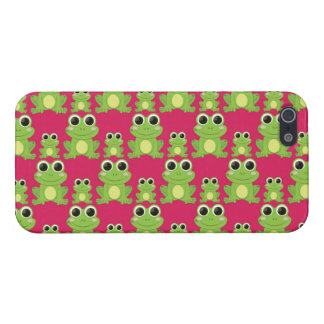 Cute frogs pattern cover for iPhone 5/5S