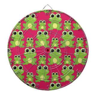 Cute frogs pattern dartboard