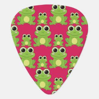 Cute frogs pattern guitar pick
