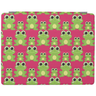 Cute frogs pattern iPad cover