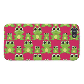 Cute frogs pattern iPhone 5 cover