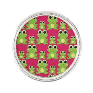 Cute frogs pattern lapel pin