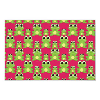 Cute frogs pattern photo print