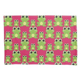 Cute frogs pattern pillowcase