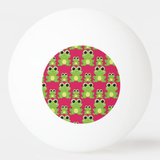 Cute frogs pattern ping pong ball