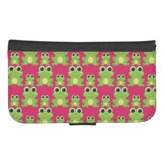Cute frogs pattern samsung s4 wallet case