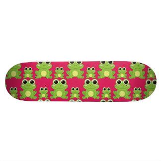 Cute frogs pattern skateboard deck